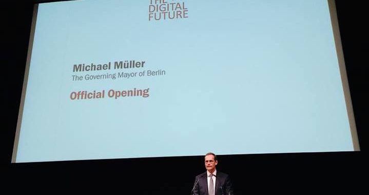"Michael Müller eröffnet ""The Digital Future"""